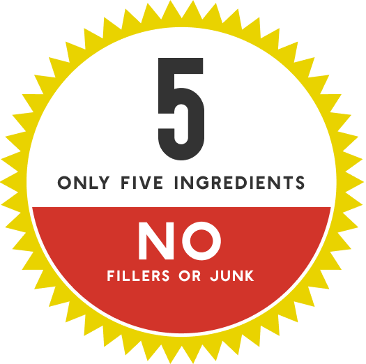 badge - only 5 ingredients