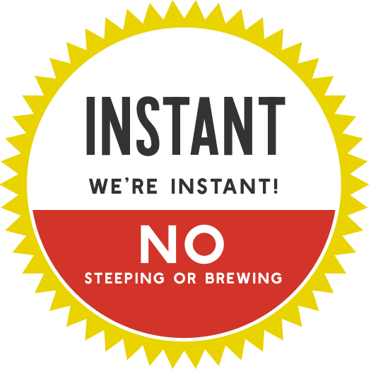 instant herbal beverage, no steeping or brewing