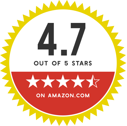 4.7 out of 5 stars on amazon.com