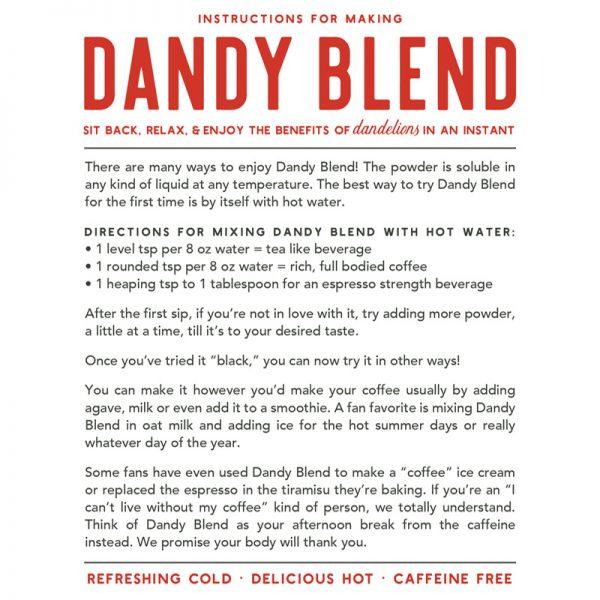 Dandy Blend recipe instructions