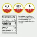 Dandy Blend organic nutrition facts