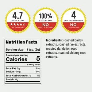 nutrition facts label plus seals
