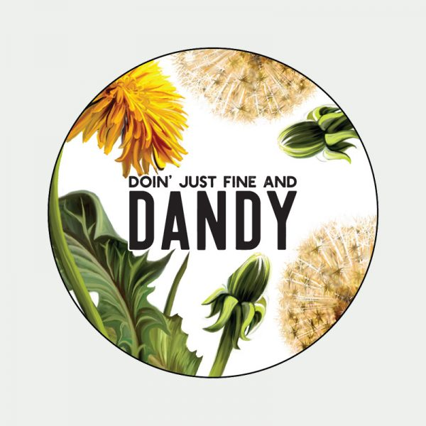 fine and dandy sticker badge